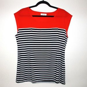Calvin Klein Classic Striped Swing Top